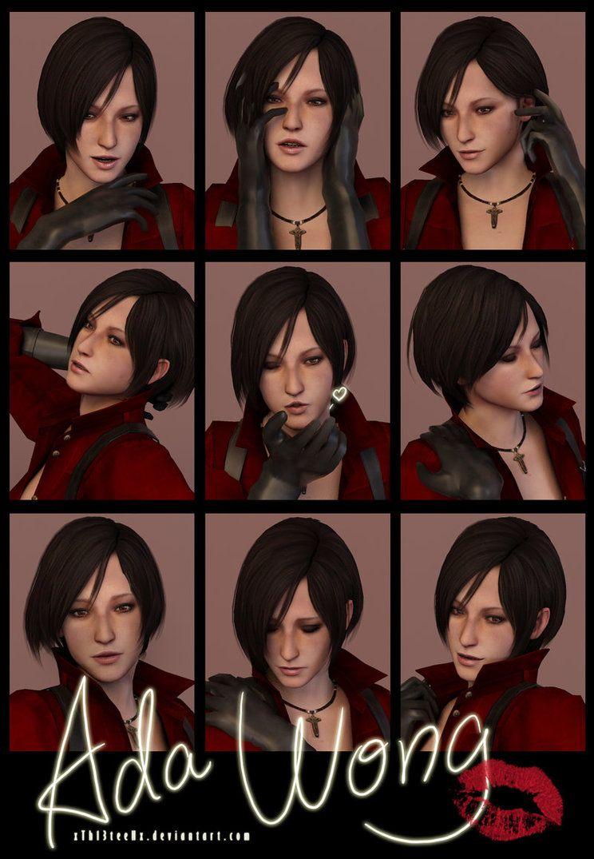 9 Faces Photo Shoot Ada Wong Ada Wong Face Photo Resident Evil