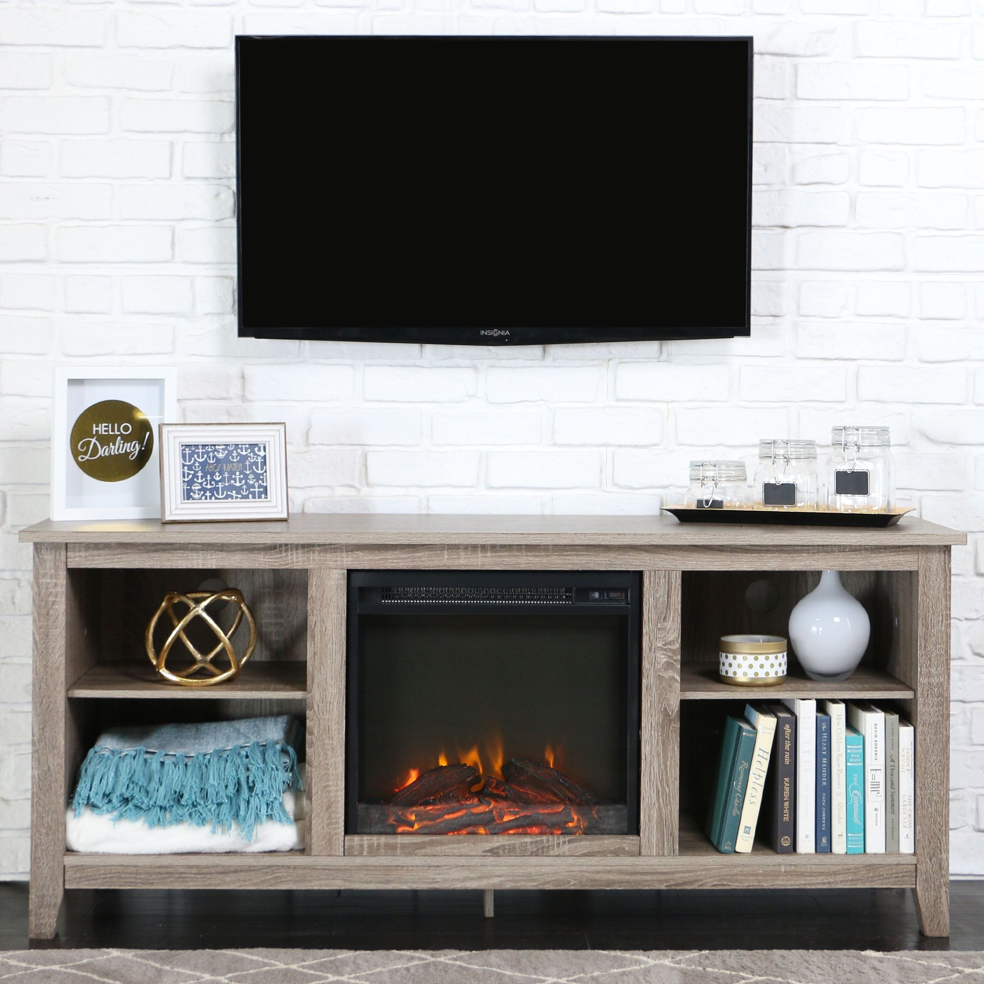 You ll love the McCall TV Stand with Electric Fireplace at Wayfair