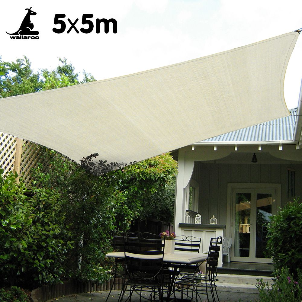 Wallaroo Waterproof Shade Sail 5 X 5m Square Shade Sails Patio Shade Sail Waterproof Shade Sails