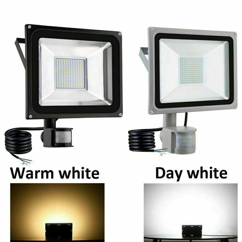 Led Pir Motion Sensor Flood Light 100w 50w 30w 20w 10w Outdoor Garden Yard Lamp In 2020 Outdoor Flood Lights Flood Lights Led Outdoor Lighting