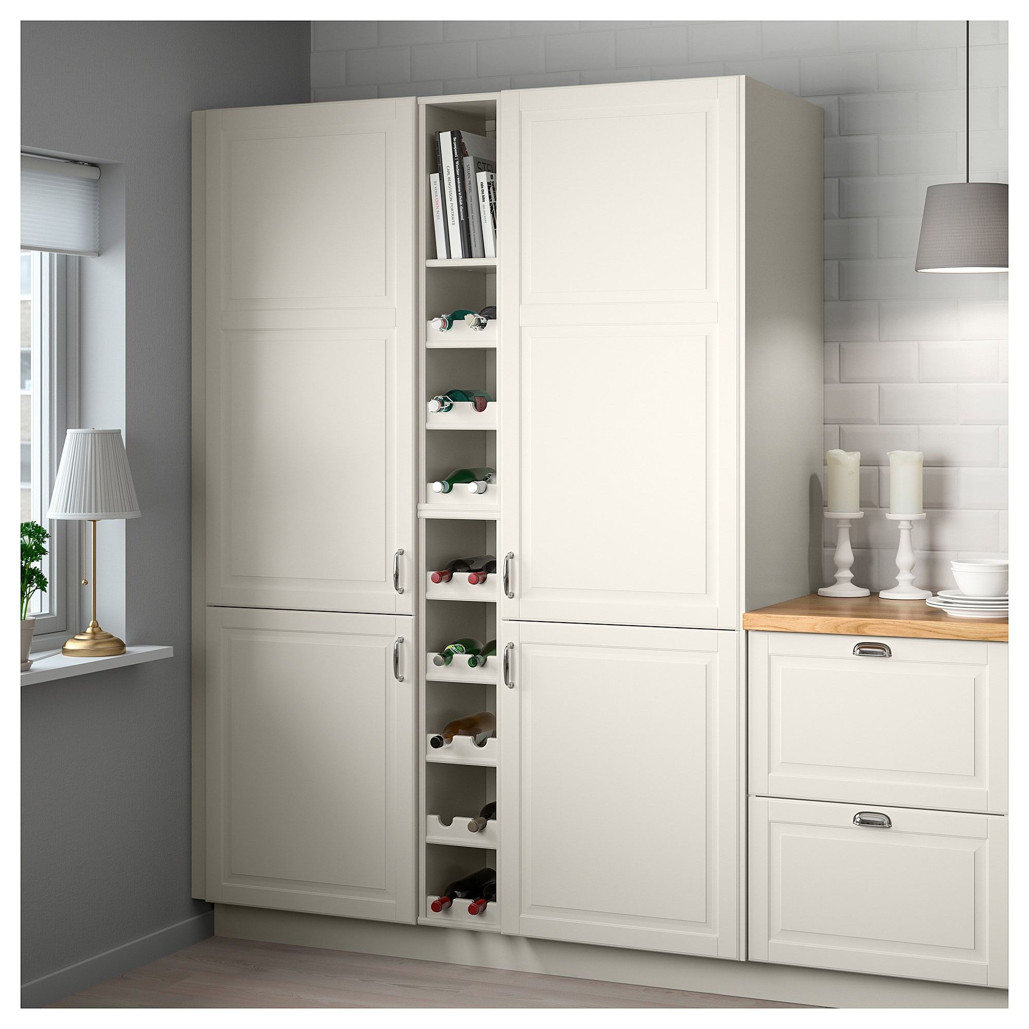 Open Cabinet Open Cabinet Tornviken Off White In 2019 Kitchen Open Cabinets
