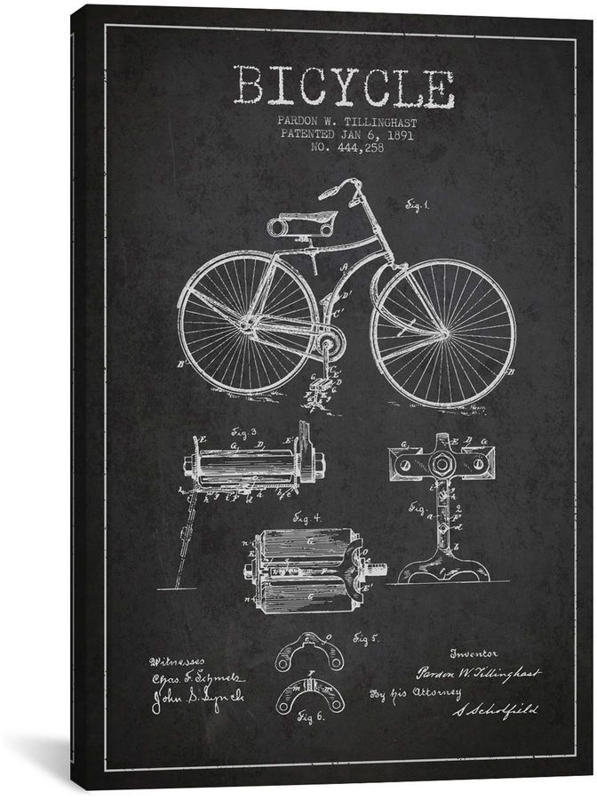 Icanvas bike charcoal patent blueprint canvas art canvases free icanvas bike charcoal patent blueprint canvas art malvernweather Images
