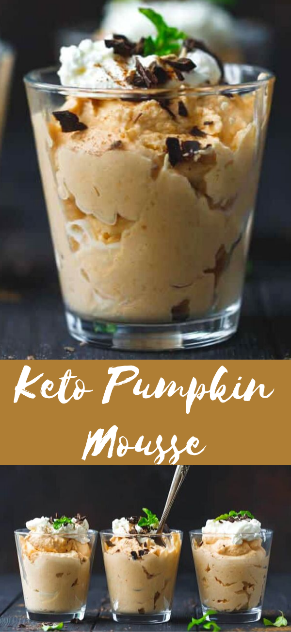 Keto Pumpkin Mousse lowcarb, sugarfree and glutenfree
