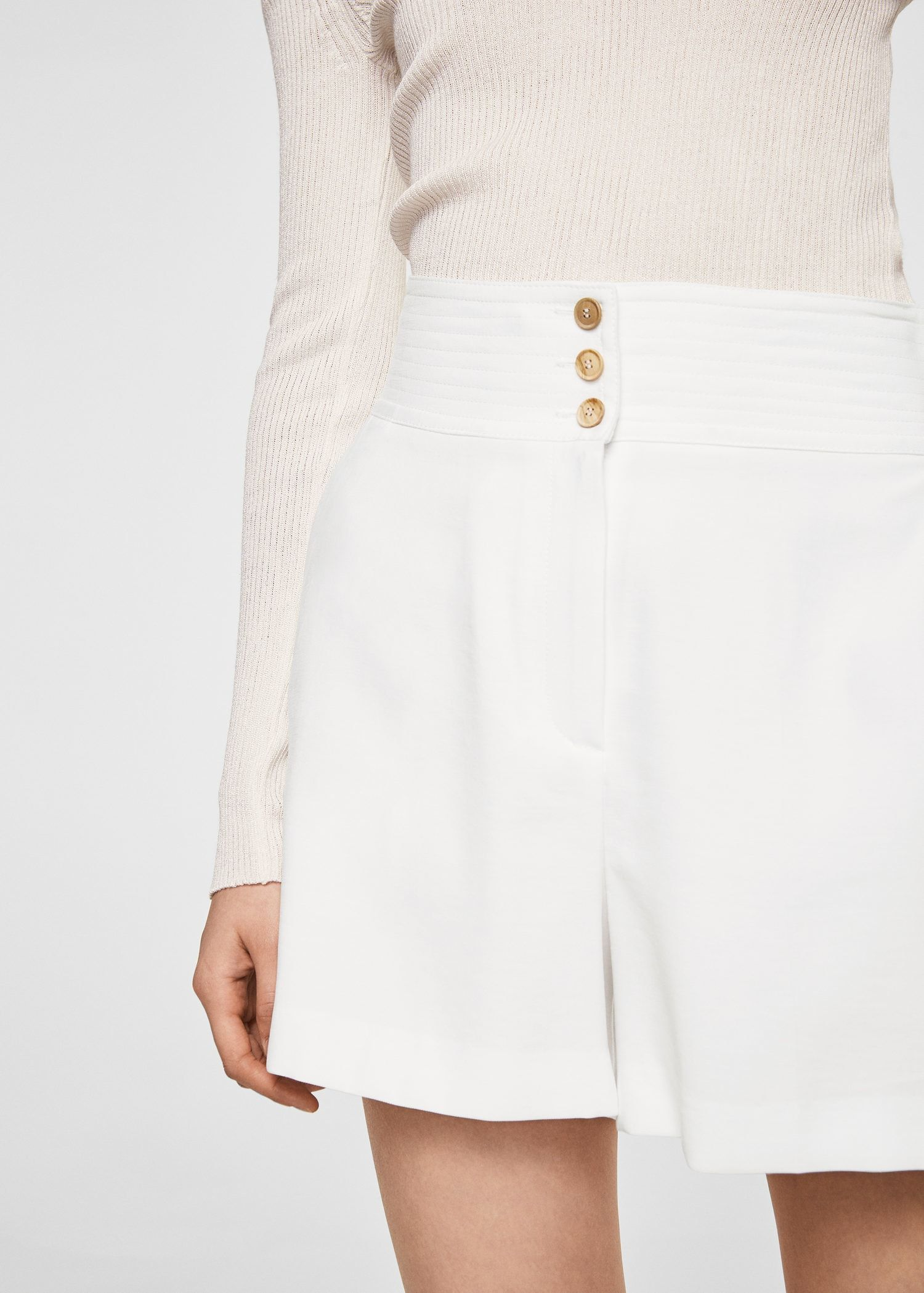 MANGO Buttoned high-waist shorts View For Sale Latest Cheap Sale Collections 7nDeUw5