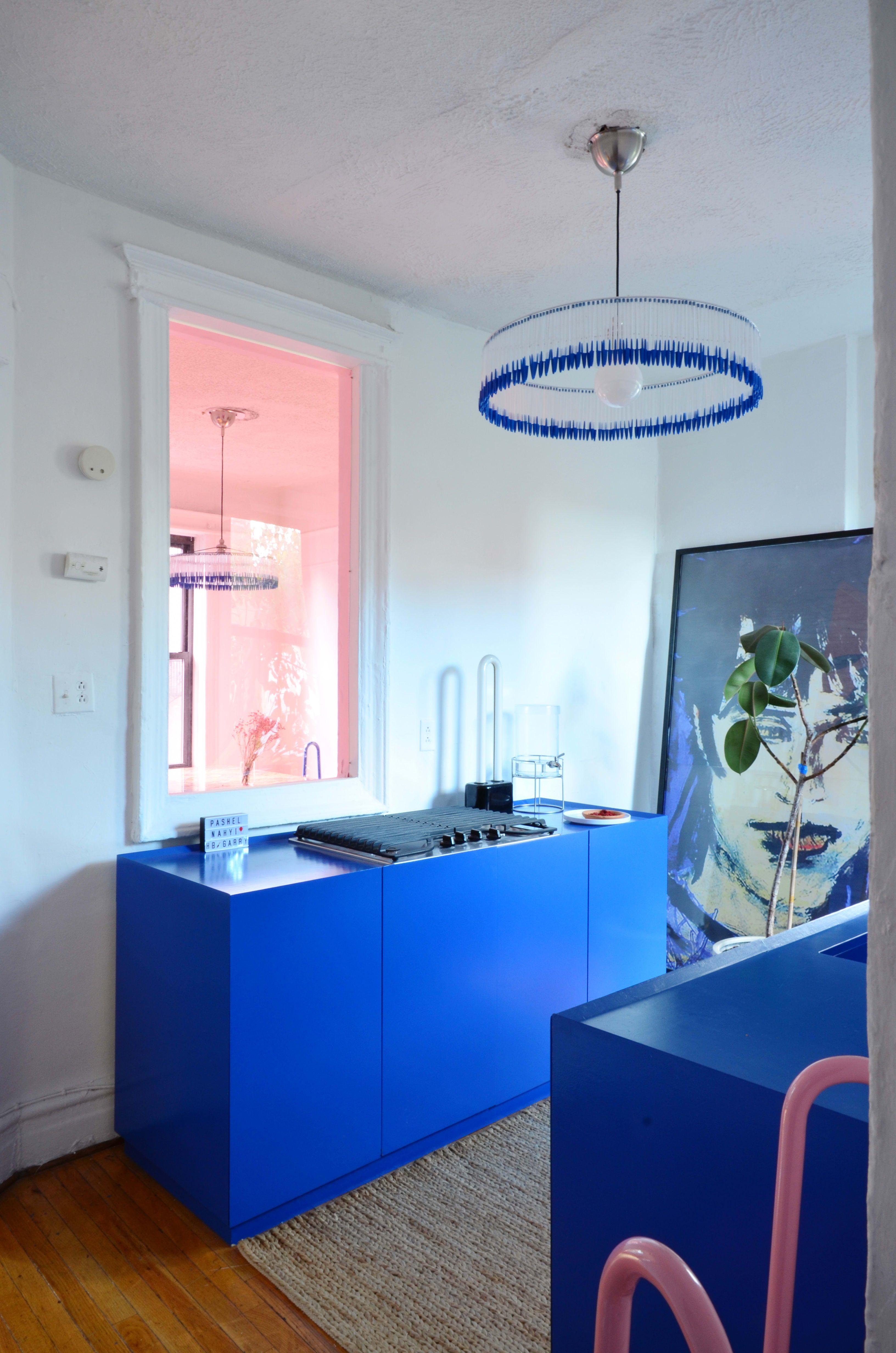 A Bold, Blue and Bespoke Brooklyn Abode