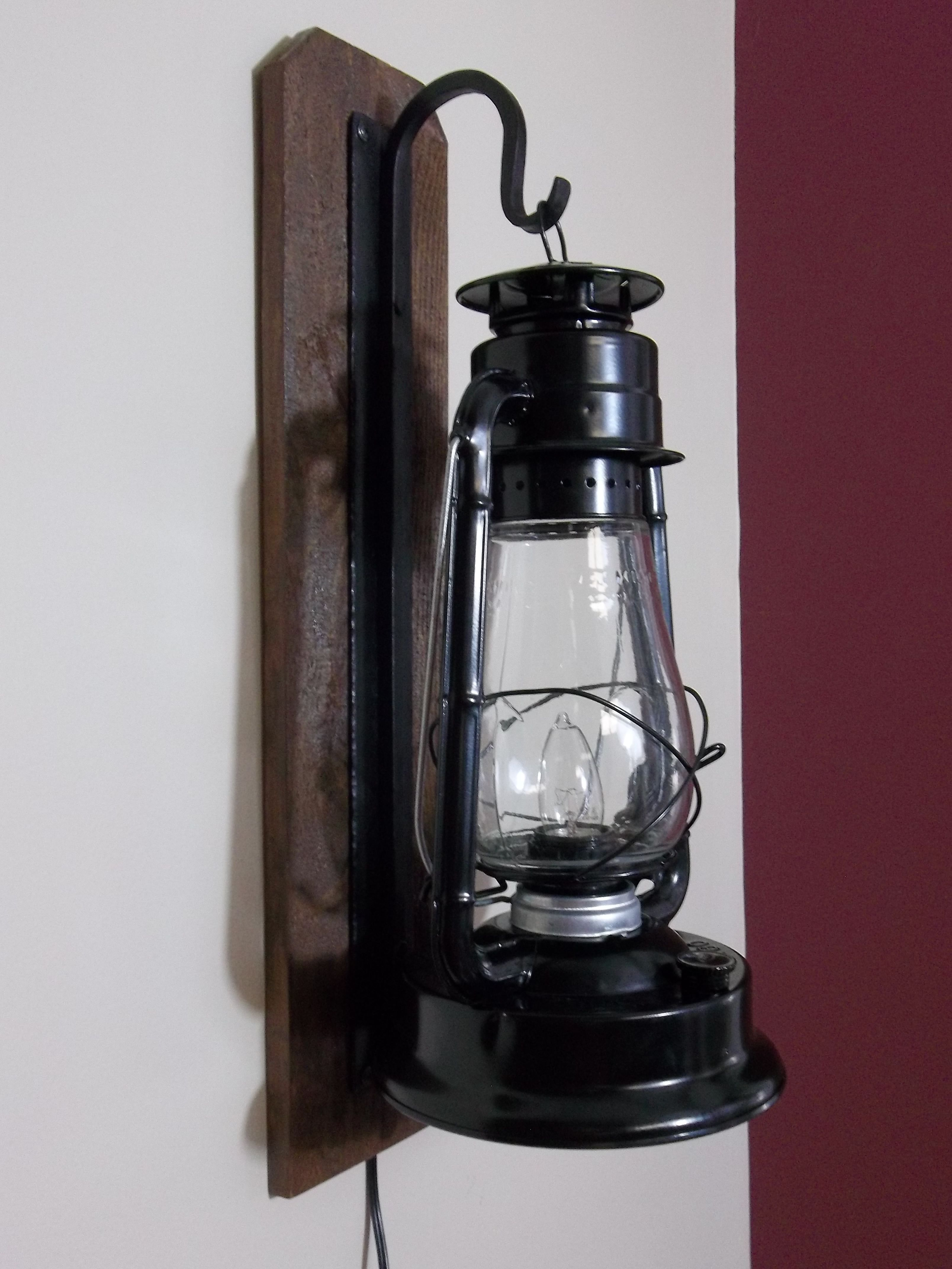 Rustic Electric Lantern Wall Sconce Victorian Wall