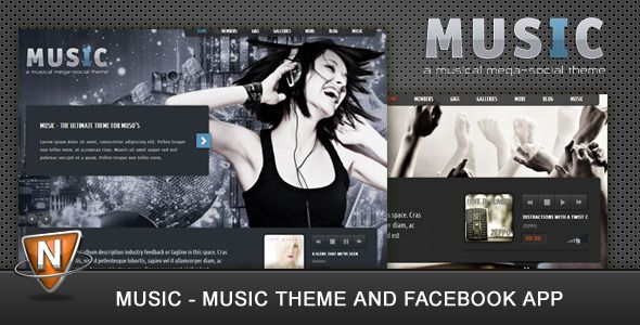 Music theme for facebook app | Web design and related | Pinterest