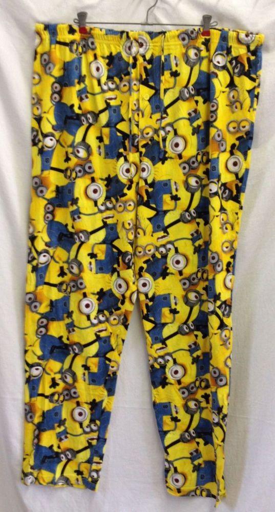 dc471f0f717d94 Despicable Me 2 Minion Pajama Pants Bottoms Lounge Pajamas Sleepwear Yellow  2XL  DespicableMe2  LoungePants