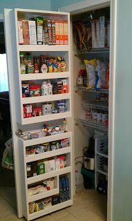 Pantry Door Organization Pantry Door Storage Pantry Door
