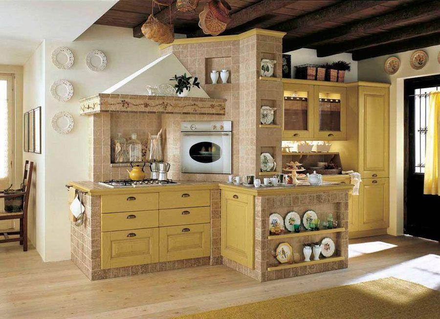 Cucina Muratura Rustica 18 | Кухня-столовая | Pinterest | Gardens ...