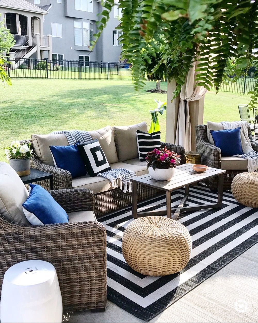 Life Love Larson Summer Home Tour 2018 Patio Style Outdoor Furniture Sets Outdoor Patio Decor