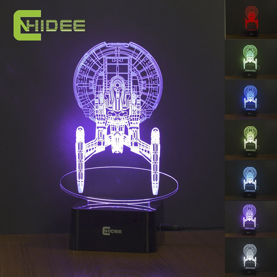 Usb Led Night Lamp Star Trek Enterprize 3d Nightlights As Creative Gifts Home Decor Baby Bedroom Besides Lampara 3d Led Night Light Led Night Lamp Night Lamps