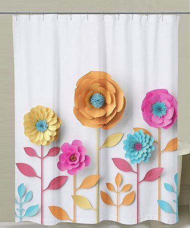 29 99 Marked Down From 71 90 3 D Flowers Shower Curtain