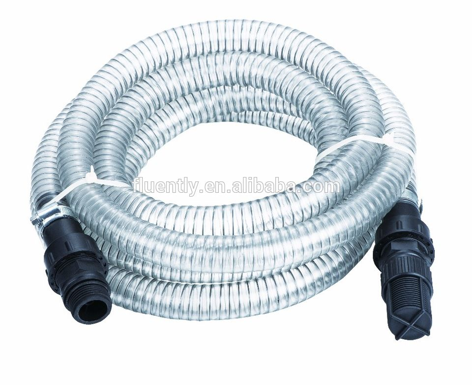 Steel Wire Reinforced PVC Garden Hose with Plastic Check Valve Set ...