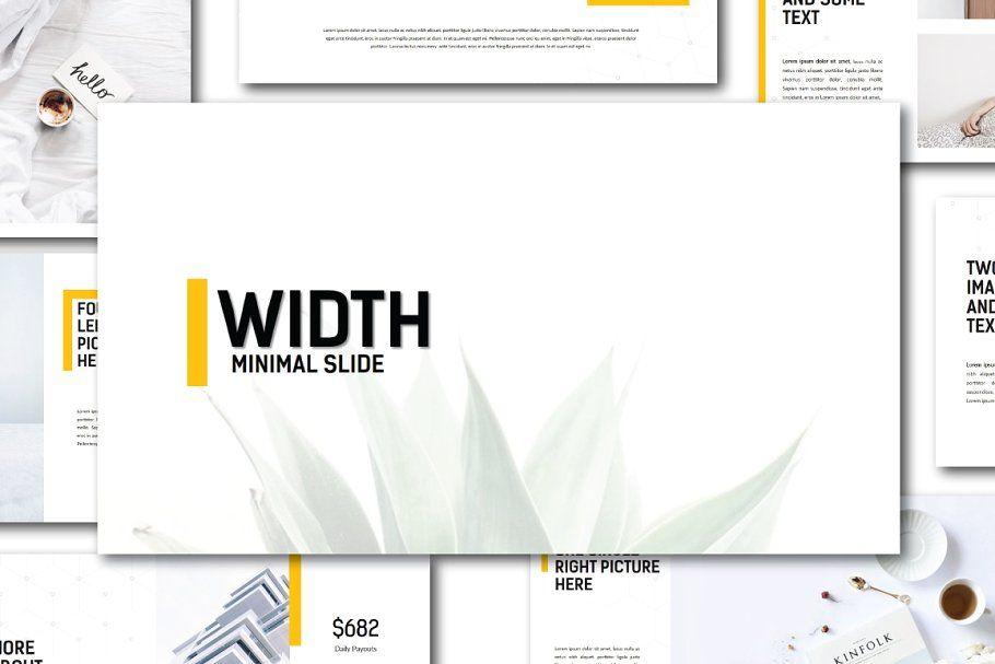 Width Minimal Powerpoint Templatepresentation design  presentation layout  presentation  presentation board design  presentation template