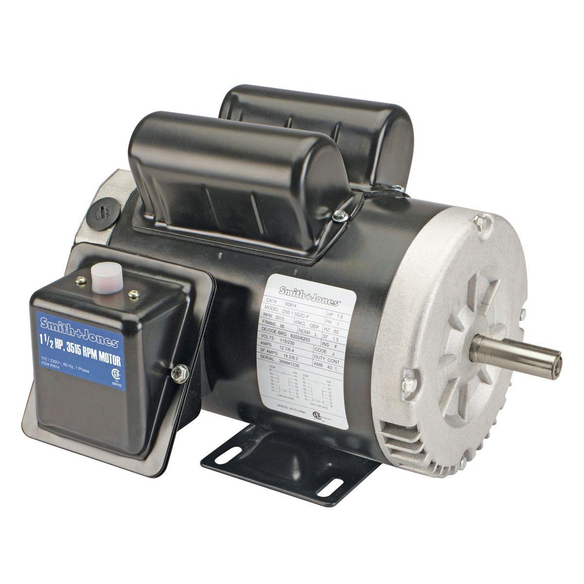 Smith Jones 60814 11 2 Horsepower Compressor Duty Motor