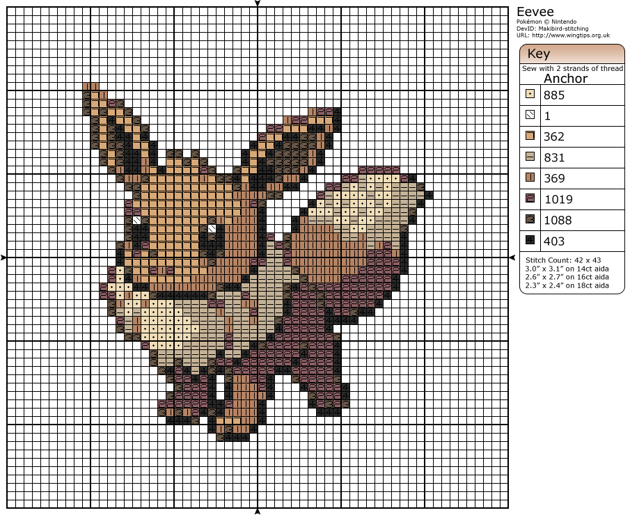 Pokémon – Eevee » Birdie Stitching | pokemon | Pinterest | Bordado ...