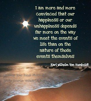 how we meet events of life
