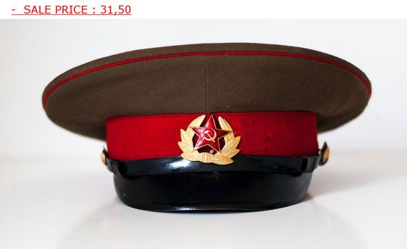 c5cd77d0a8d SALE SALE Soviet Hat Russian Hat army Cap officer s cap- military hat -  Communist Symbolism Hat