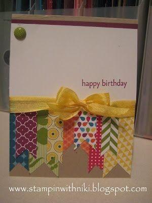 cartão de aniversário, utilizando sucatas por Melanie