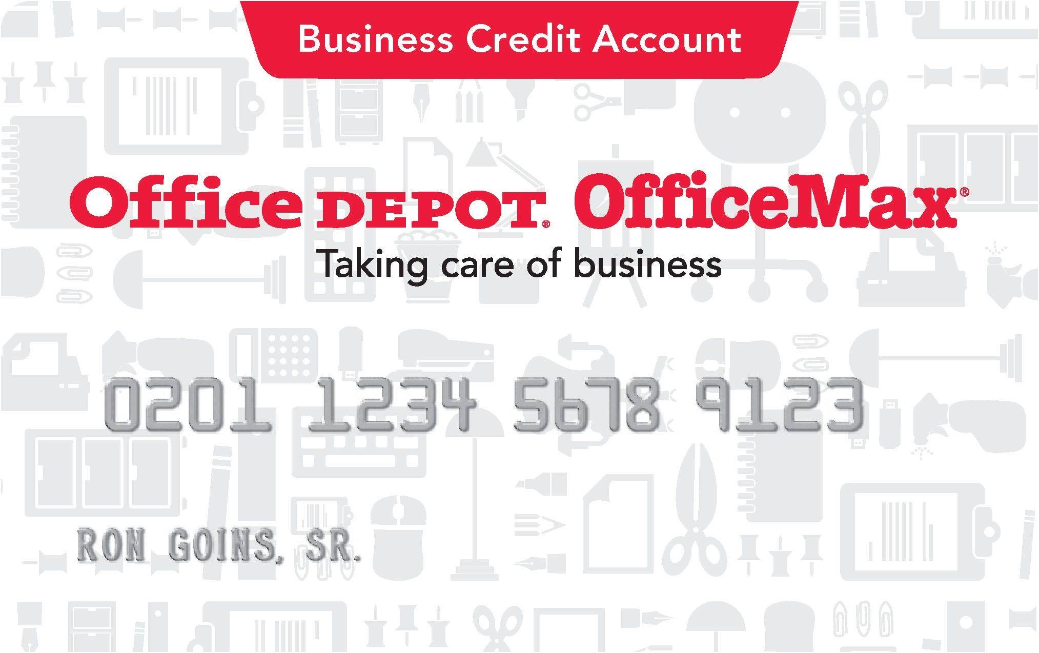 Office Depot Credit Card Office Depot Business Cards Business Plan Template Student Business Cards
