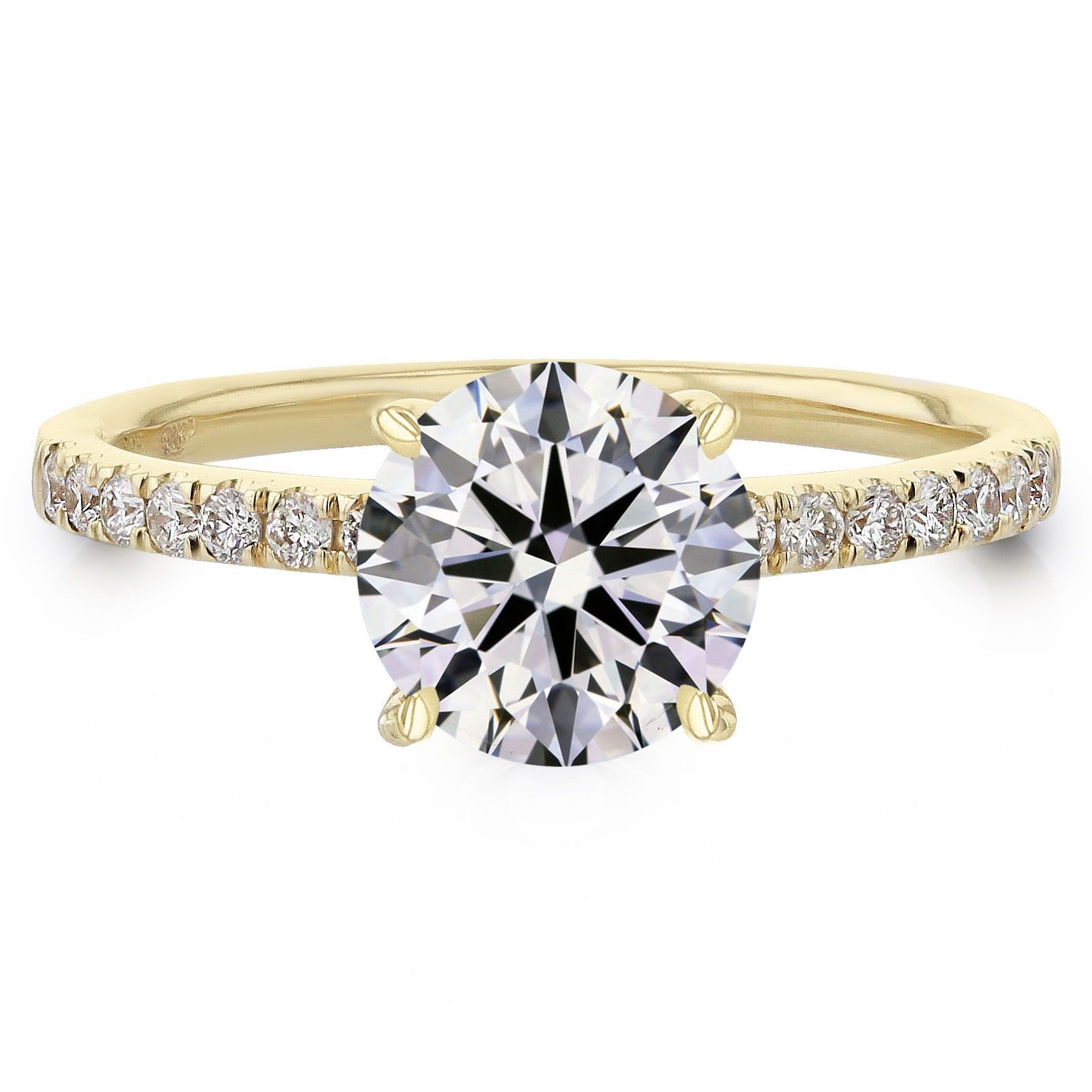 Our Classic Micro Pave Engagement Ring The Juliette Is For The