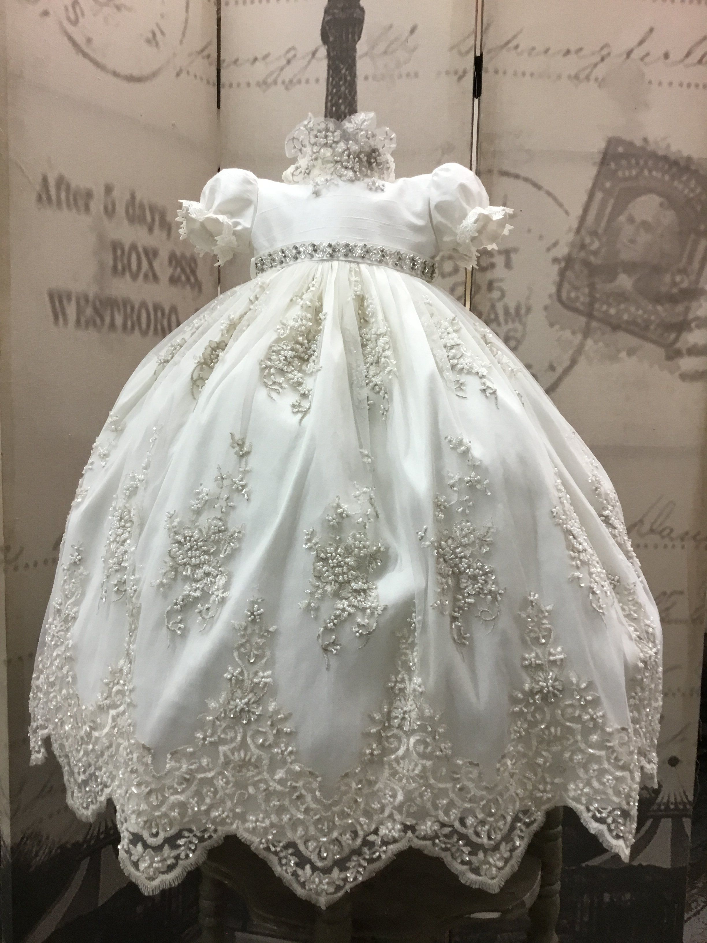 3ff136044971 Channel-christening gown with bonnet-baptism-bautizobaby-heirloom gown