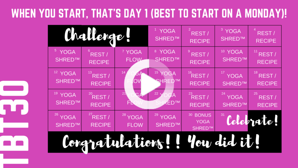 Total Body Transformation - A 30 Day Fitness Challenge By Sadie Nardin