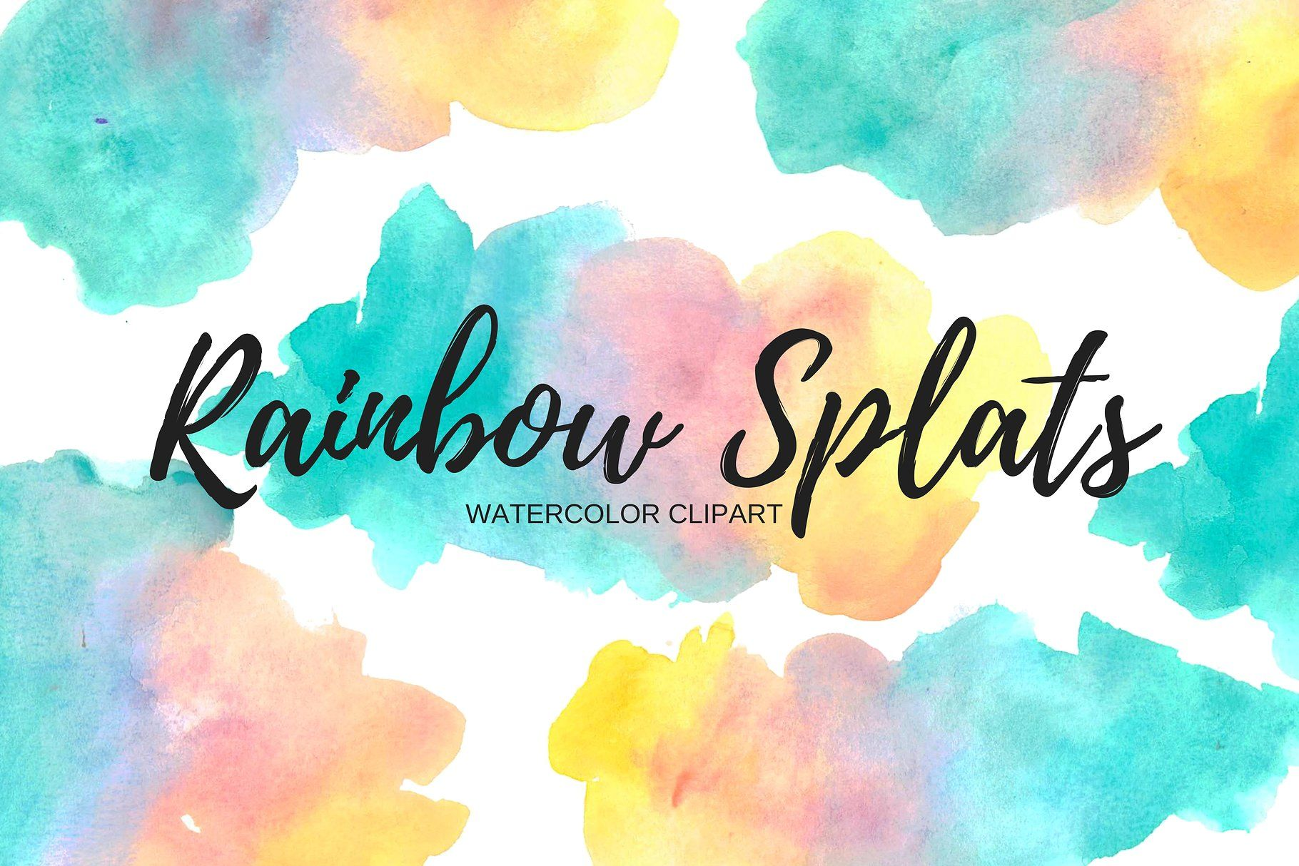 Watercolor Splash Rainbow Clipart With Images Rainbow Clipart