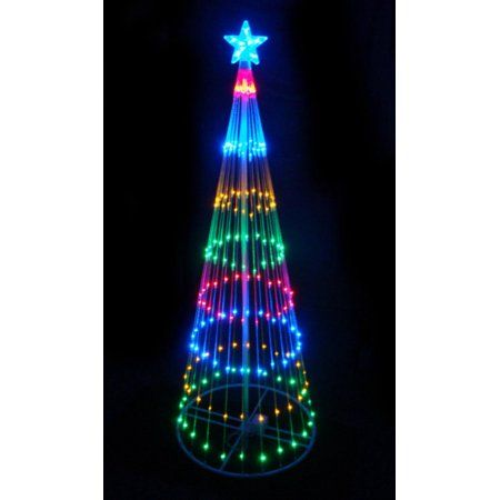 Walmart Rope Lights Simple Free Shippingbuy 4' Multicolor Led Light Show Cone Christmas Tree Inspiration Design