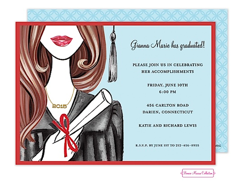 Graduation | Glamorous Grad (Brunette) Invitation