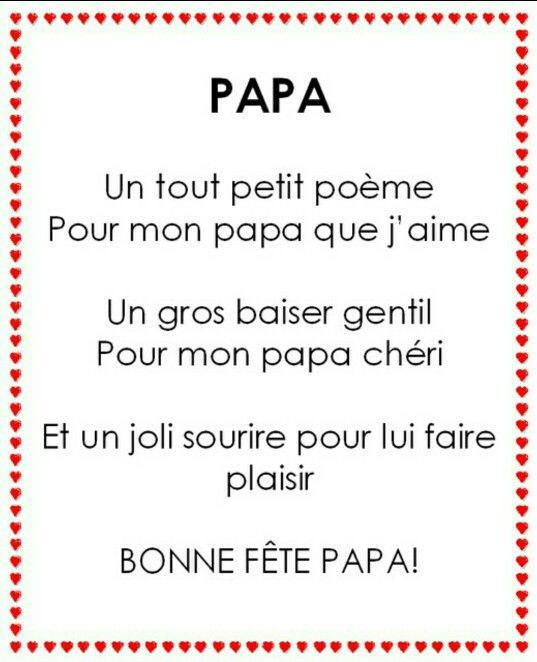 Fête De Papa Papa Poème Fête Des Pères Fête Des Pères Y