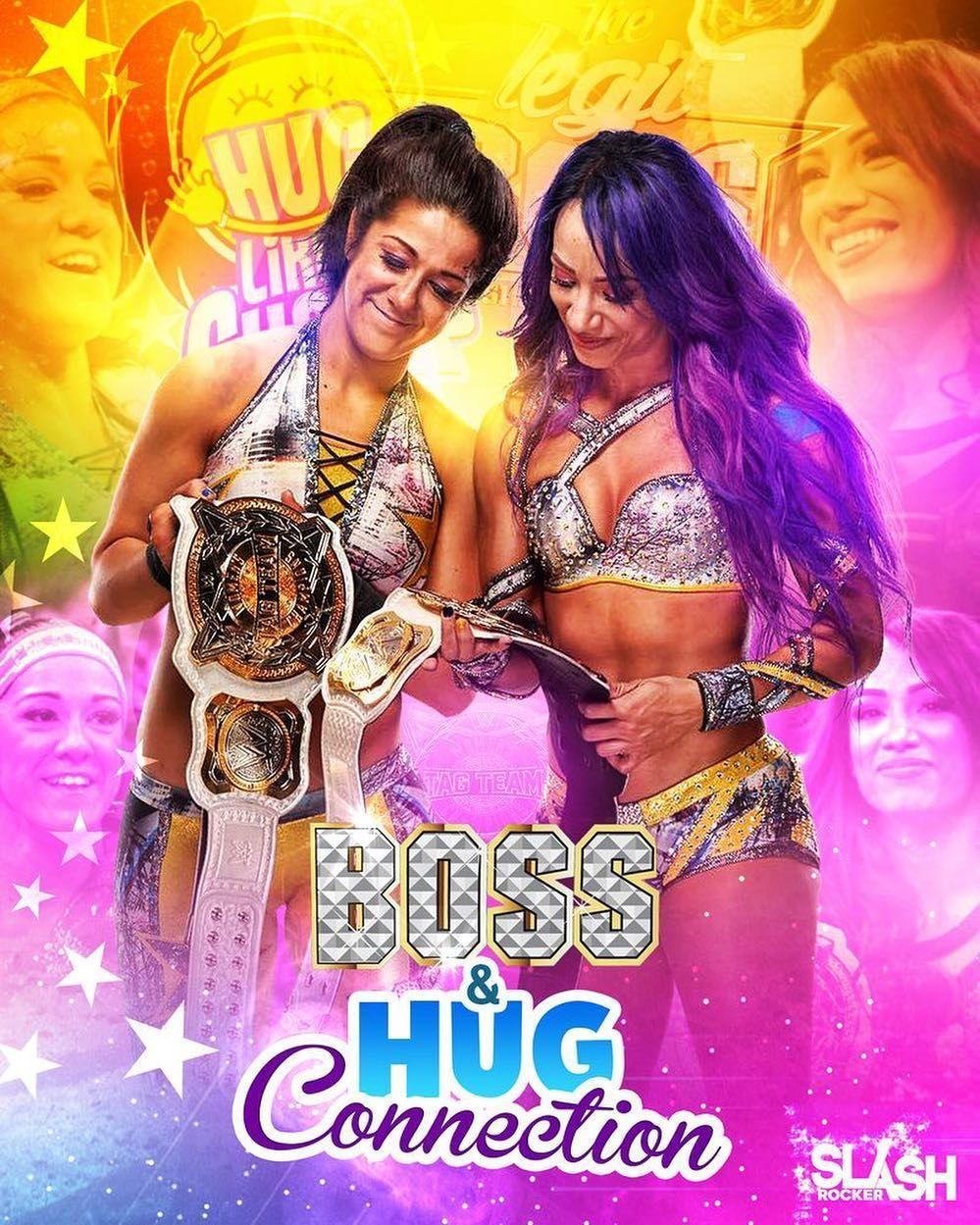The Boss N Hug Connection Sasha Banks And Bayley Wwe Raw Sdlive Sashabanks Bayley Bossnhugconnect Wwe Divas Bikini Wwe Girls Wwe Female Wrestlers