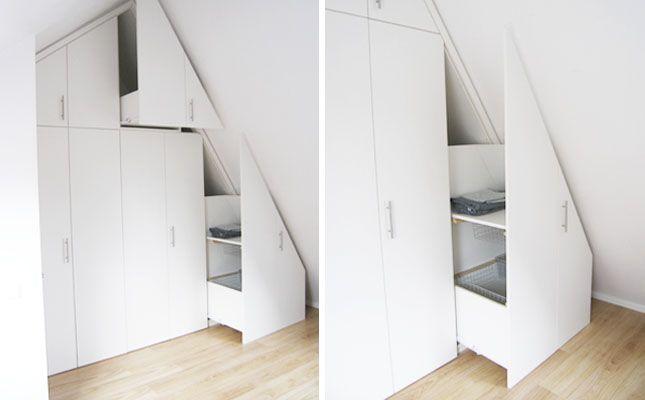 zolderkast | opgeruimd | ruimtelijk meubel | slaapkamer, Deco ideeën