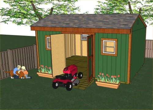 This Spacious Saltbox Shed Is 16u0027 Long And 12u0027 Deep And Can Be Built