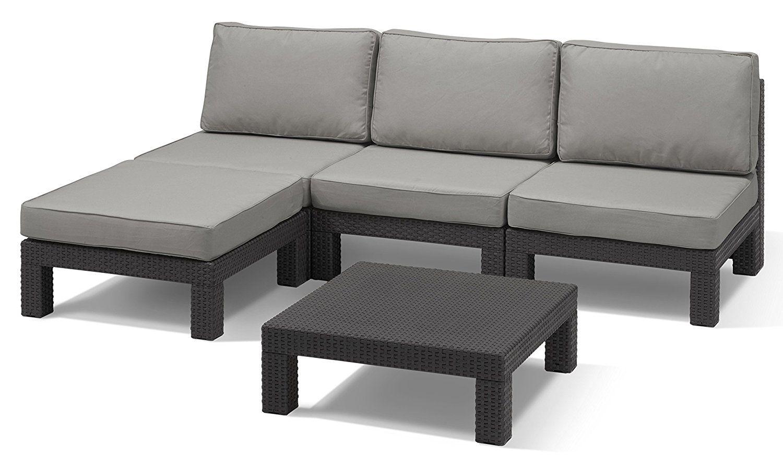Luxurygarden Living Room Sofas Corner Polypropylene Rattan