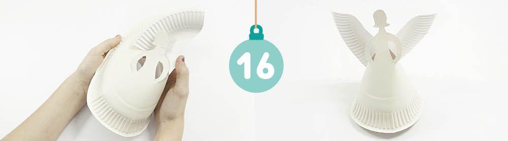 weihnachtsbaumschmuck mit kindern basteln engel aus pappteller gifts. Black Bedroom Furniture Sets. Home Design Ideas