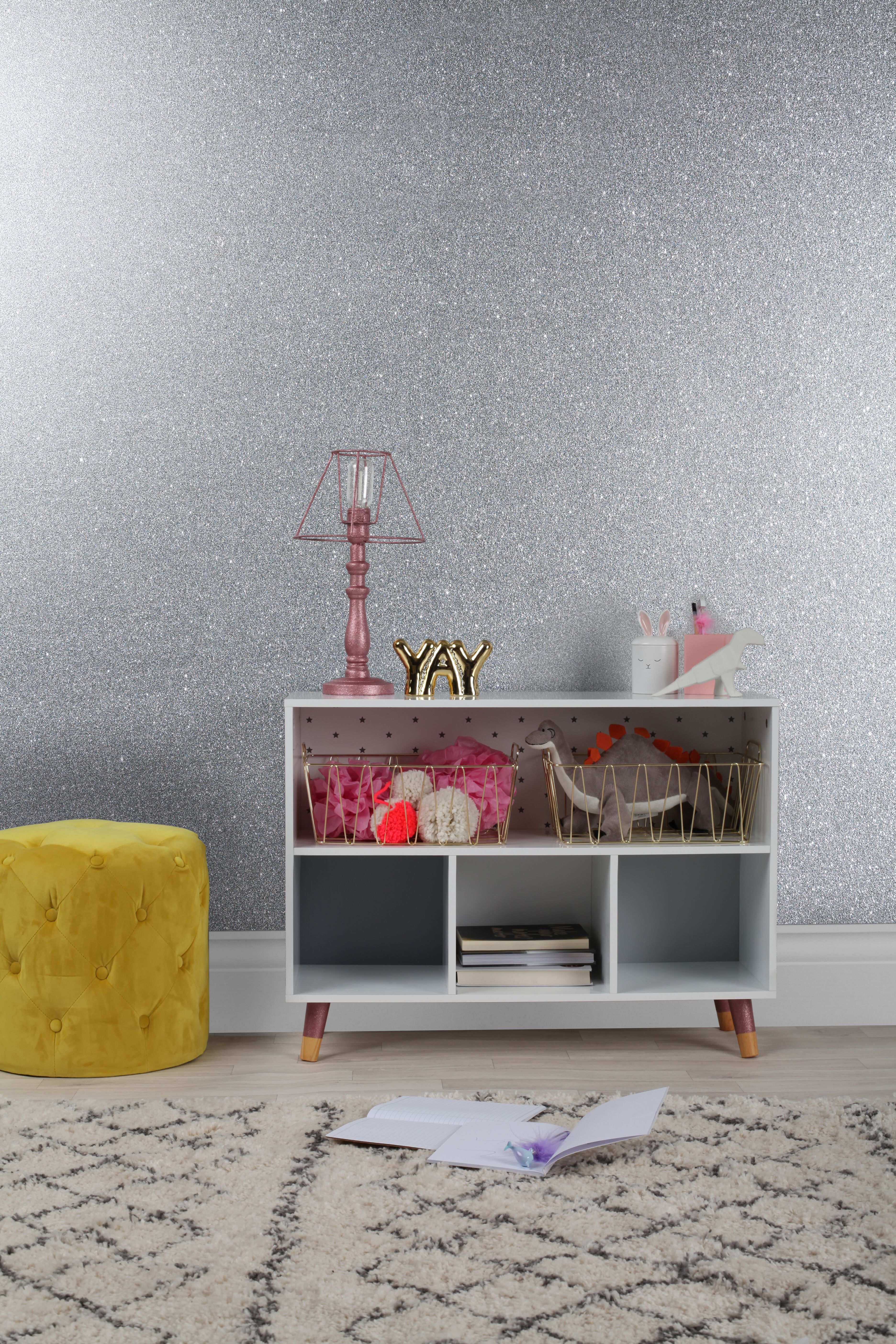 Rust Oleum Ultra Shimmer Silver Glitter 750ml Dipped Furniture