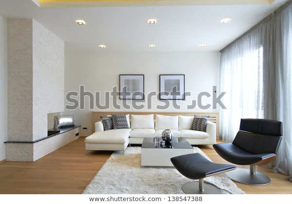 Modern Living Room Interior Stock Photo (Edit Now) 138547388