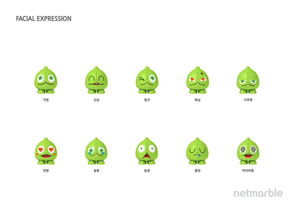 Netmarble Friends 3d Character Guide On Behance 3d Character Cartoon Design Character