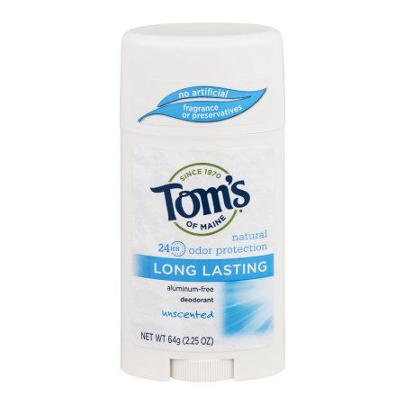 Tom's of Maine Aluminum-Free Deodorant Long Lasting Unscented, 2.25 OZ, Multicolor