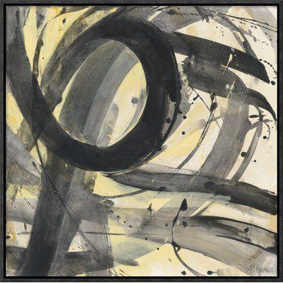 """East Urban Home 'Roller Coaster II' Print Format: Black Framed Canvas, Matte Color: No Matte, Size: 18.8"""" H x 18.8"""" W"""