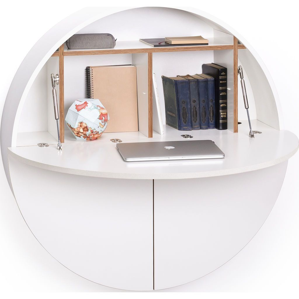 Emko Multifunctional Pill Cabinet Desk White White  # Dakar Table Tele En Bois Massif