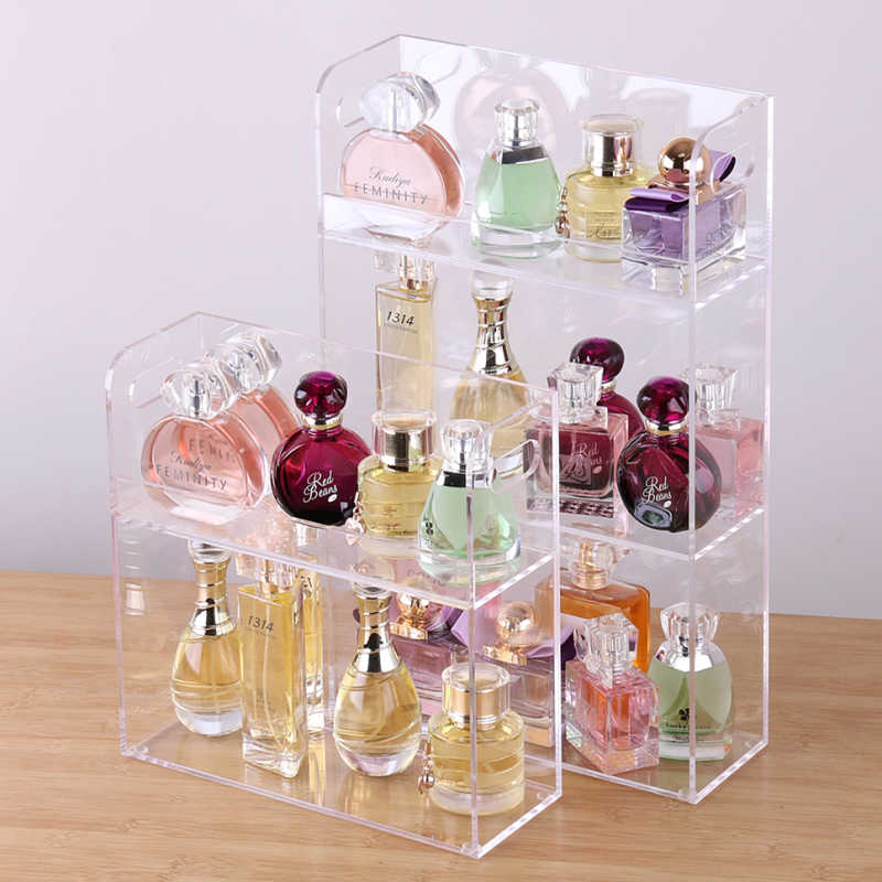 Photo of 大容量の香水ディスプレイラックアクリル化粧オーガナイザー透明デスクトップ収納ボックス 2 3 層オーガナイザージュエリー棚| |   – AliExpress