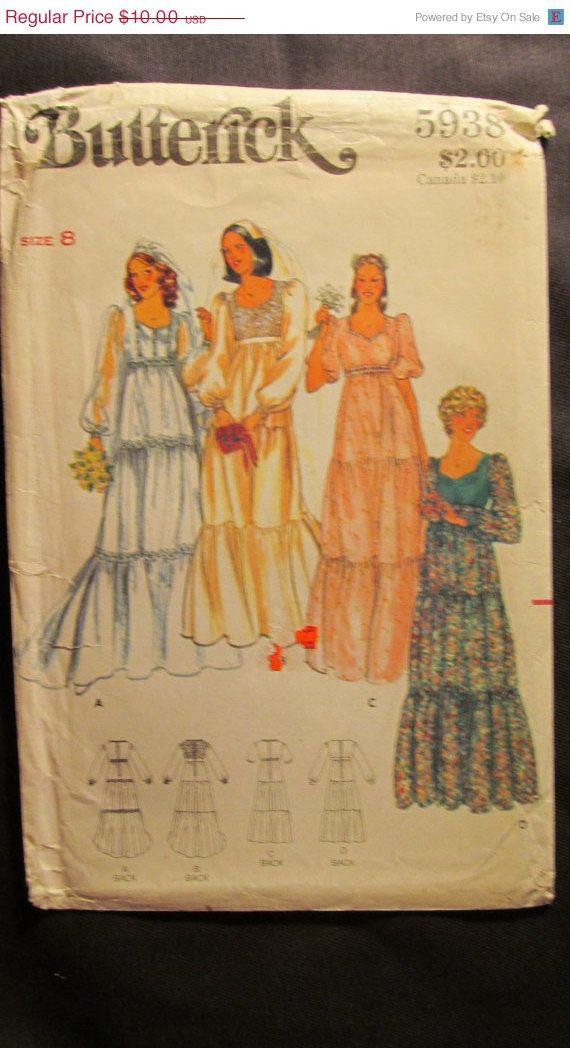 SALE Uncut 1970's Butterick Sewing Pattern 5938 by EarthToMarrs, $8.00