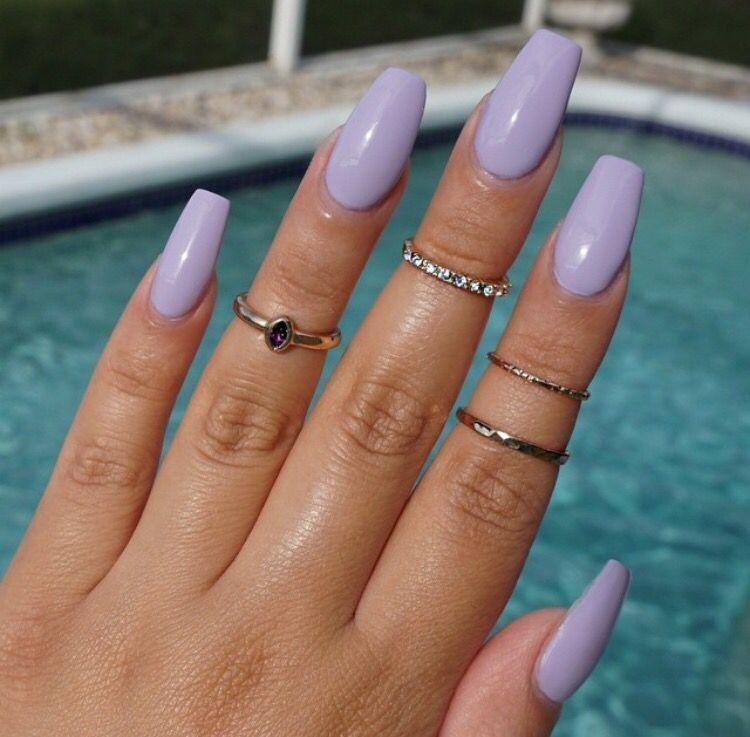 Matte Light Purple Nails Coffin Shaped Nailsstock Lilac Nails Design Lilac Nails Purple Acrylic Nails