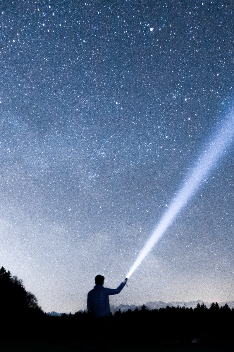 New free photo from Pexels: https://www.pexels.com/photo/person-holding-flashlight-towards-sky-during-night-87282/ #nature #sky #person