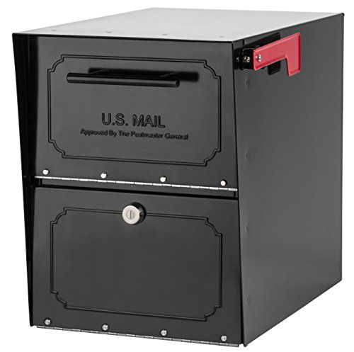 Architectural Mailboxes 6200b 10 Oasis Classic Locking Post Mount Parcel Mailbox With High Security Reinforced Lock Architectural Mailboxes Mounted Mailbox Lockable Mailbox