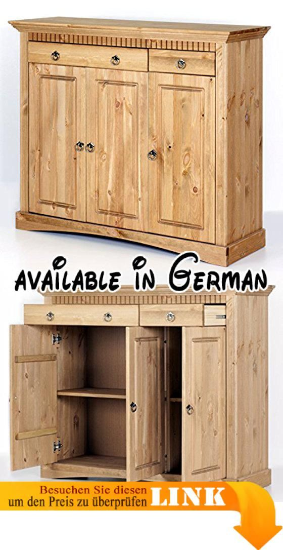 B00LGIU8D4  3trg Kommode aus Kiefernholz gelaugt/geölt Schrank - schlafzimmer kiefer massiv