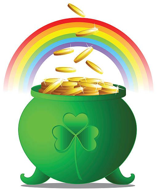 Pot Of Gold Coins Happy St Patricks Day St Patrick S Day Holiday Images